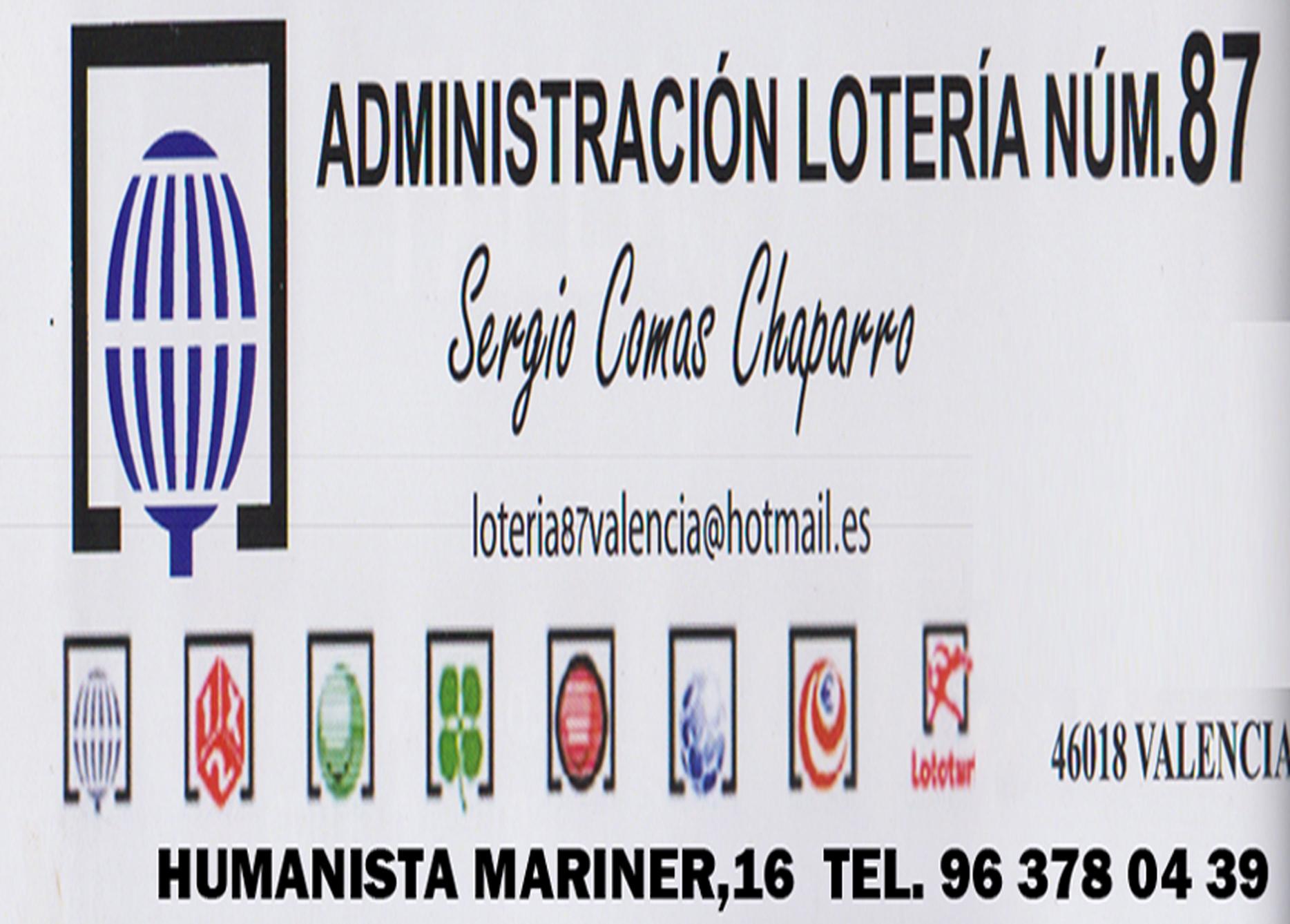 Administracion Loteria 87